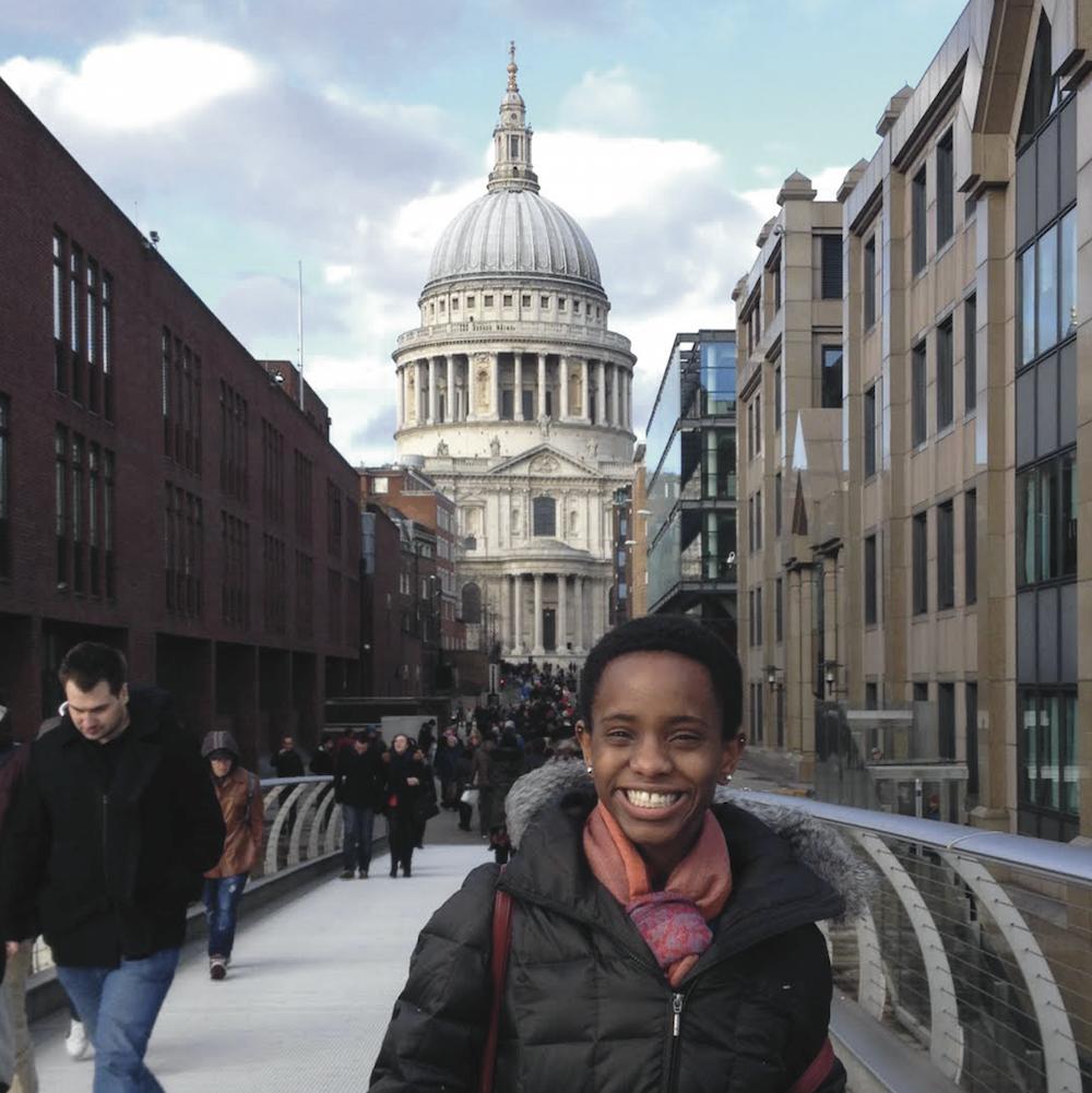 A student exploring a European city during a Fellowship.